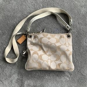 COACH POPPY PURSE BEIGE/CHAMPAGNE NEUTRAL HANDBAG